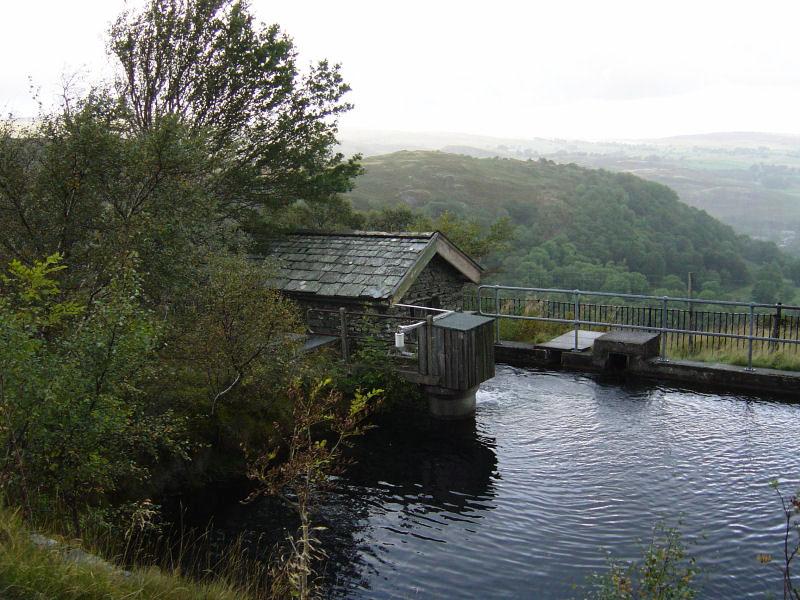 The reservoir on the Swindale supply line, Harper Hills