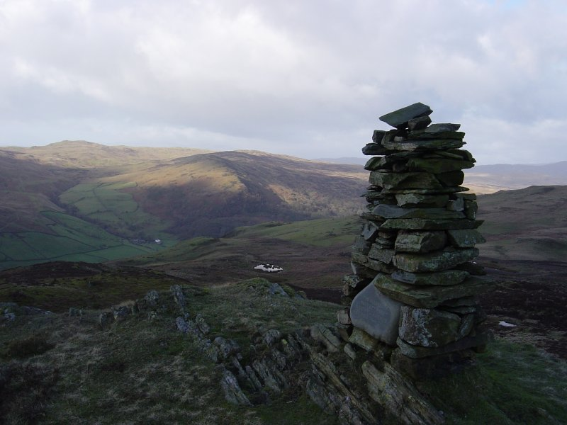 Sleddale Forest and Brunt Knott from the summit of Whiteside Pike