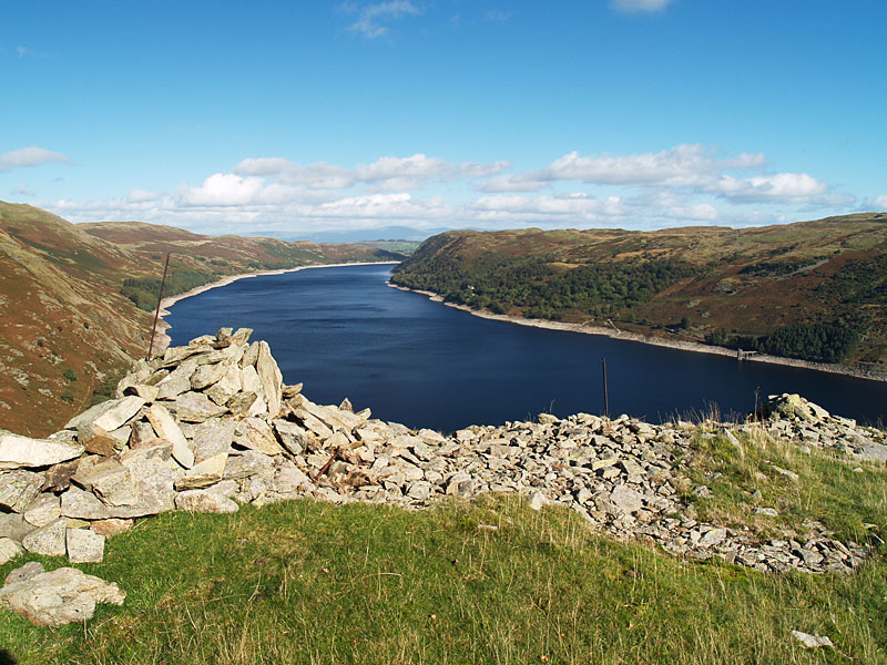 Haweswater from the ruins of the fort on Castle Crag
