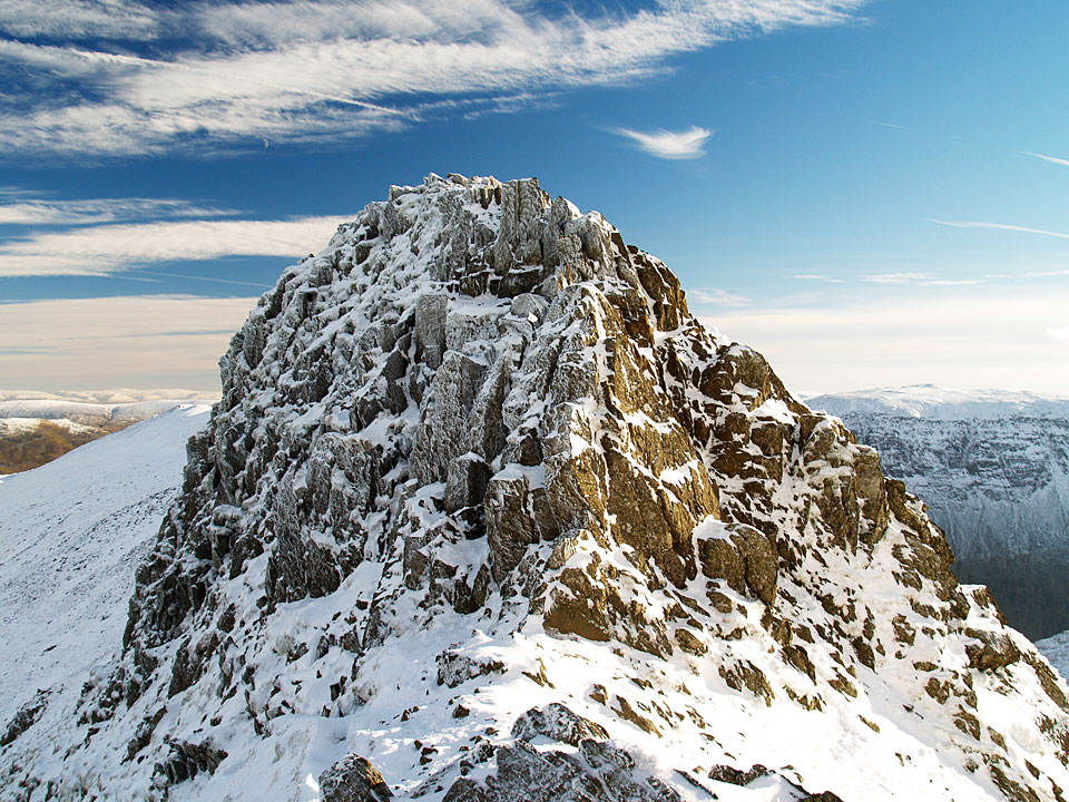 The Chimney, the awkward bit of Striding Edge which requires a climb to descend