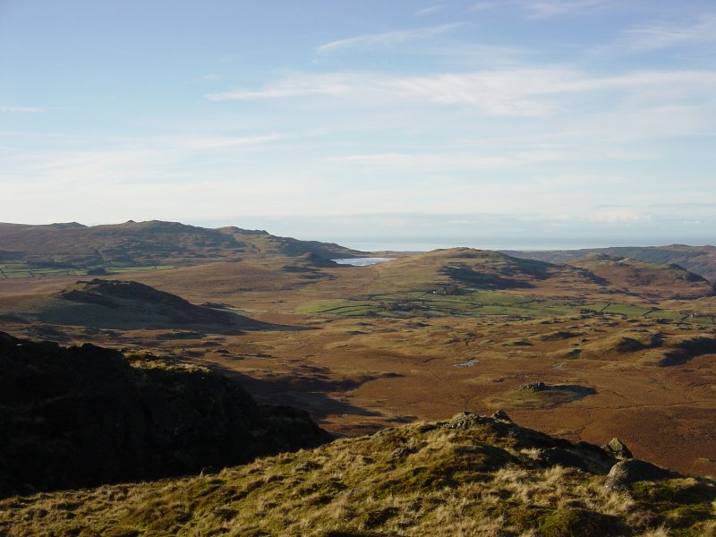 Devoke Water and Birker Fell from Great Whinscale