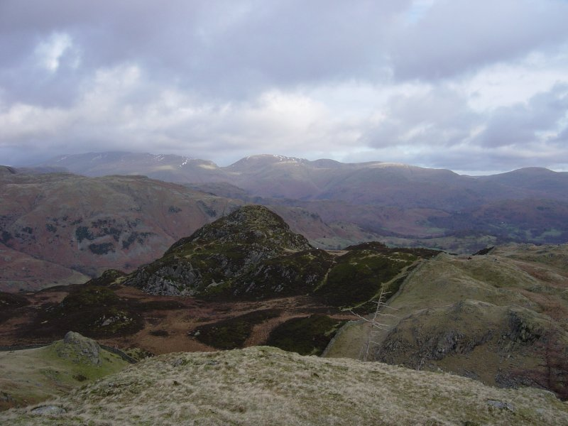 Great Intake from High Fell, with Red Screes and Caudale Moor behind