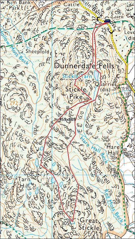 Dunnerdale Fells Map
