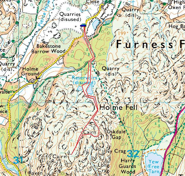 Holme Fell Map