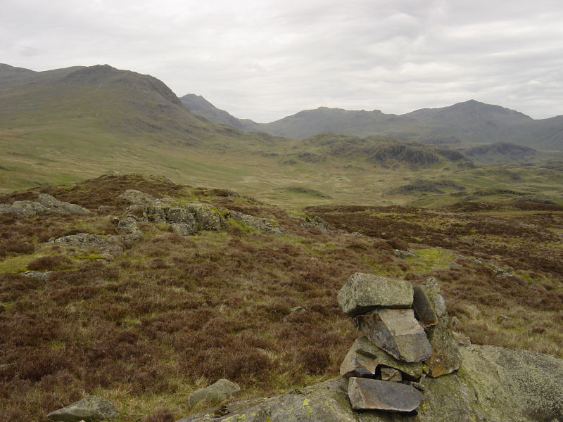 The head of Eskdale from Dawsonground Crags