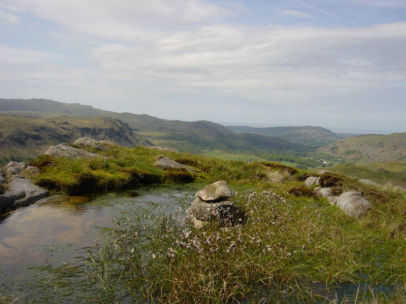 Looking west along Eskdale from the summit of Goat Crag