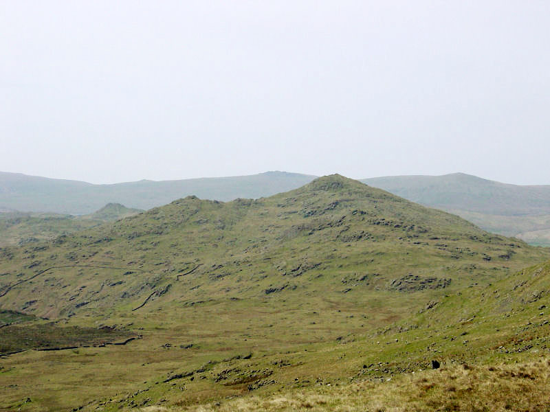 Caw and Stickle Pike from the summit of High Pike Haw