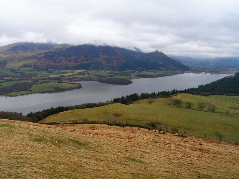 The Skiddaw massif and Bassenthwaite Lake from Lothwaite