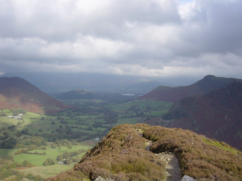 Rowling End - left, Swinside - centre and on the right Skelgill Bank leading from Derwent Water to Cat Bells from Scope End