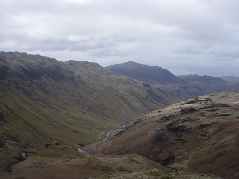 Looking along Eskdale to Harter Fell from Throstlehow Crag