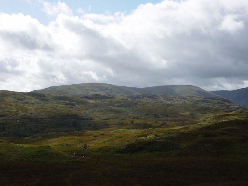 Selside Pike and Branstree from Wallow Crag